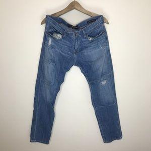 lucky brand jeans sienna cigarette patchwork denim